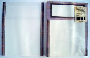 Brochures Tri fold Brown Marble Paper Stock Vintage 1990 s 600 Sheets New
