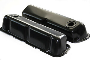 Sbf Black Powdercoated Steel Baffled Tall Valve Covers 62 up Ford 289 302 351w