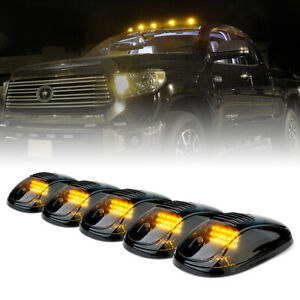 Xprite 5pcs Amber12 Led Cab Roof Marker Lights Clearance Running For Trucks Jeep