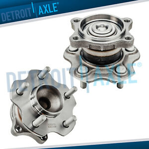 2 Rear Wheel Bearing Hub Set For Nissan Altima Maxima Quest Non Abs 2 5l 3 5l