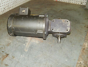 Baldor Motor Kl3400 1 6 166 hp 1725rpm With Browning Gear Reducer Sm133c1 15