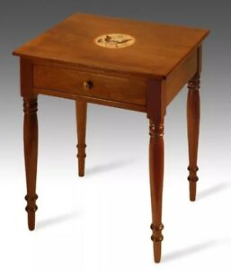 1795 1825 Eagle Antique Furniture Federal Colonial Nightstand Side Table Walnut