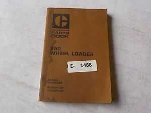Cat 950 Wheel Loader Parts Book