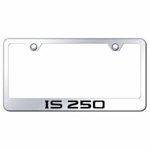 Lexus Is250 Mirrored Chrome Stainless Steel License Plate Frame