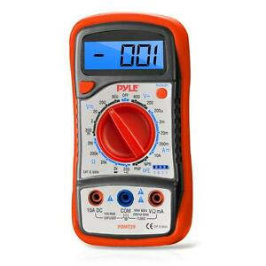 New Pyle Pdmt29 Digital Lcd Multimeter Range W Rubber Case And Stand Ac Dc Volt