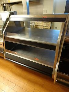 Falcon Fabricators Custom 2 tier Hot Food Warmer Display Case 45 Wide 120 208