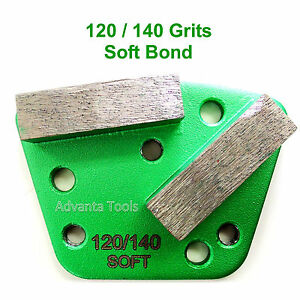 Trapezoid Htc Style Grinding Shoe Disc Plate Soft Bond 120 140 Grit
