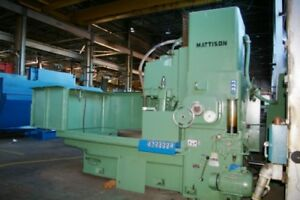 54 Mattison Rotary Surface Grinder Model 48 54 Magnetic Chuck