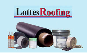 Epdm Rubber Roofing Kit Latex Bonding 40 000 Sq ft By The Lottes Companies