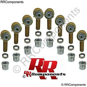 4 Link 1 1 4 X 9 16 Bore Chromoly Rod Ends Heim Joints Fits 2 X 250 Tube Rock