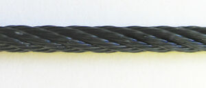 Black Powder Coated Galvanized Wire Rope Cable 1 8 7x19 250 Ft Reel
