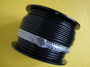 Black Vinyl Coated Wire Rope Cable 1 8 3 16 7x7 500 Ft Reel