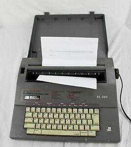 Smith Corona Model Sl460 Portable Electric Typewriter Correcting With Cover 5a