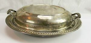 Vintage 11 Silver Plate Covered Serving Dish Eton Sheffield Plated Ware Usa