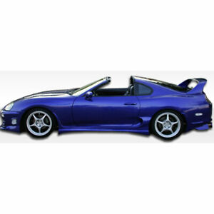Bomber Side Skirts Rocker Panels 2 Piece Fits Toyota Supra 93 98 Duraflex