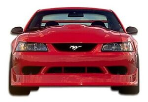Cobra R Front Bumper Cover 1 Piece Fits Ford Mustang 99 04 Duraflex