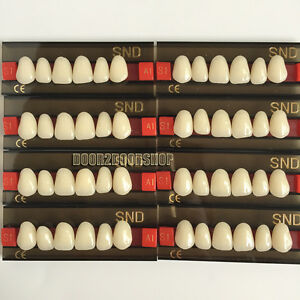 8pcs A1 Upper Anterior S1 Dental Acrylic Teeth Synthetic Resin False Denture