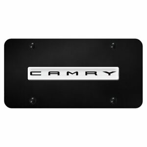 Toyota Camry Chrome Black Front License Plate Trd Novelty Logo Stainless Steel