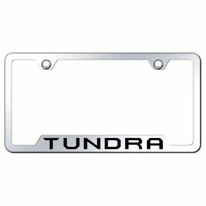 Toyota Tundra Logo Laser Etched Chrome License Plate Frame Stainless Steel Trd