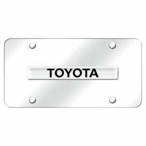 Toyota Logo Name Chrome Front License Plate Stainless Steel Trd Novelty