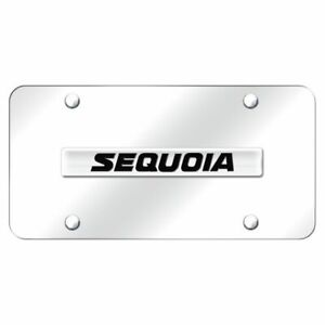 Toyota Sequoia Name Chrome Front License Plate Stainless Steel Trd Novelty