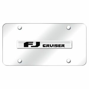 Toyota Fj Cruiser Chrome Front License Plate Trd Novelty Logo Stainless Steel