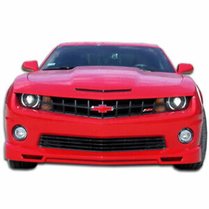 V8 Racer Front Lip Under Spoiler Air Dam 1 Piece Fits Chevrolet Camaro 10 1