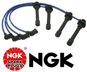 For Honda Ngk Japan Blue Oem Spark Plug Wire Set He76 Civic D16