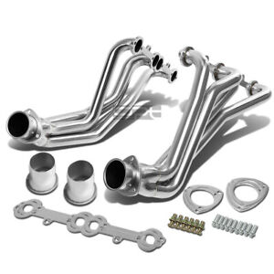 Fit 77 84 Rounded Line Sbc V8 Stainless Racing Manifold Long Tube Header Exhaust
