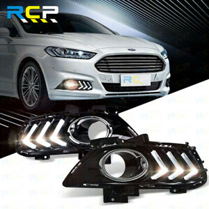 Led Daytime Running Light For Ford Mondeo Fusion Fog Lamp Cover Drl 2013 2016