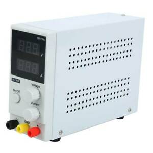 Adjustable Regulated Dc Power Supply Lcd Dual Digital Display 30v 10a