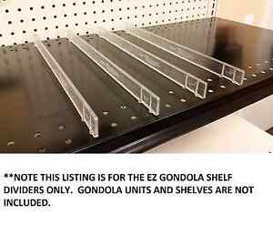 Gondola Ez Shelf Divider System Fits Any Gondola Shelf Up To 16 D 100 Pcs