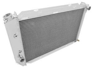 1970 1971 Lincoln Continental 4 Row All Aluminum Champion Radiator Dr