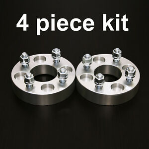 4pc 1 25 Adapter Spacers Allows 4x4 5 Cars To Use 4x100 Wheels 12x1 5 Studs