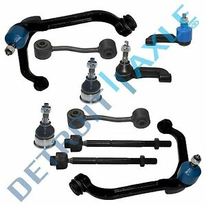 10pc Front Upper Control Arm Ball Joint Tierod Sway Link For 02 04 Jeep Liberty