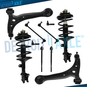 Front Strut Pair Lower Control Arms Tierod Kit For 2002 2003 2004 Honda Odyssey
