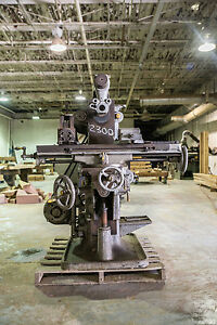 Brown Sharpe Mfg Co Horizontal Milling Machine