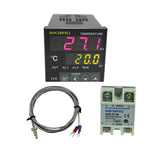 Digital Pid Temperature Controller Control Thermocouple Sensor Heating Prob Fan