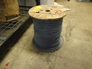 New Stranded Copper Wire Thhn 12 Gauge 2500 Ft cable Blue