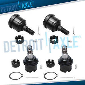 All 4 New Front Upper Lower Suspension Ball Joint For Dodge Ram 4x4 8 Lug