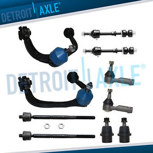 Brand New 10pc Complete Front Suspension Kit For Ford F 150 Trucks 2wd Mark Lt