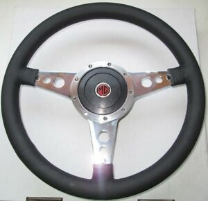 New 14 Leather Steering Wheel Adaptor Mga 1955 1962 Mgb 1963 1967 Moto lita