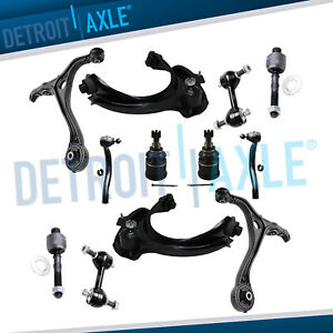 12pc Front Upper Lower Control Arm Tierod 03 07 Honda Accord Acura Tsx 2 4l