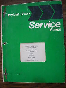 Ih Farmall Mccormick International Td6 Td9 Crawler Service Manual