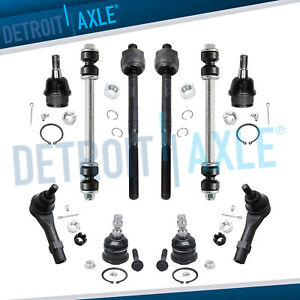 Upper Lower Ball Joints Tierods Sway Bars Ford Ranger Mazda 2wd Front Coil Susp