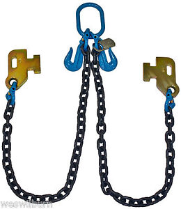 G100 3 8 Cargo Shipping Sea Container Chain Bridle Loading Chain Tow Truck
