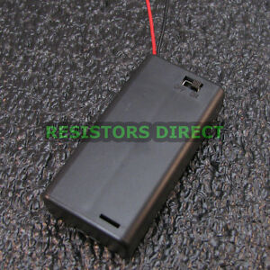 2 aa 3v Battery Holder With On off Toggle Swich Box Cover 2xaa Aa Usa New