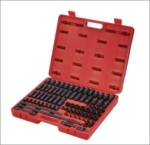 Sunex Tools 80pc 3580 3 8 Drive Master Impact Socket Accessory And Torx Set