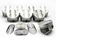 Speed Pro trw Pontiac 400 Forged Coated Flat 4vr Pistons Set 8 030 W rings