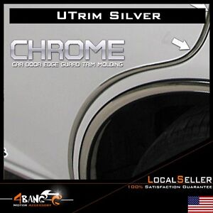 20ft Chrome Moulding Trim Strip Auto Trunk Car Door Edge Guard Flexible U Shape